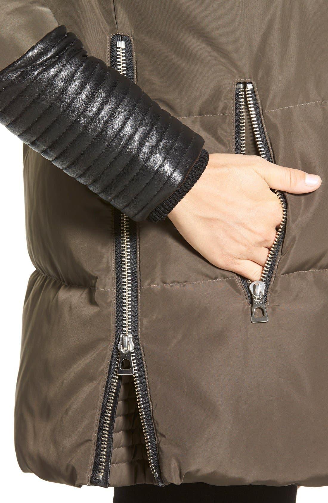 Alternate Image 5  - Rudsak 'Cally' Leather & Genuine Coyote Fur Trim Down Coat