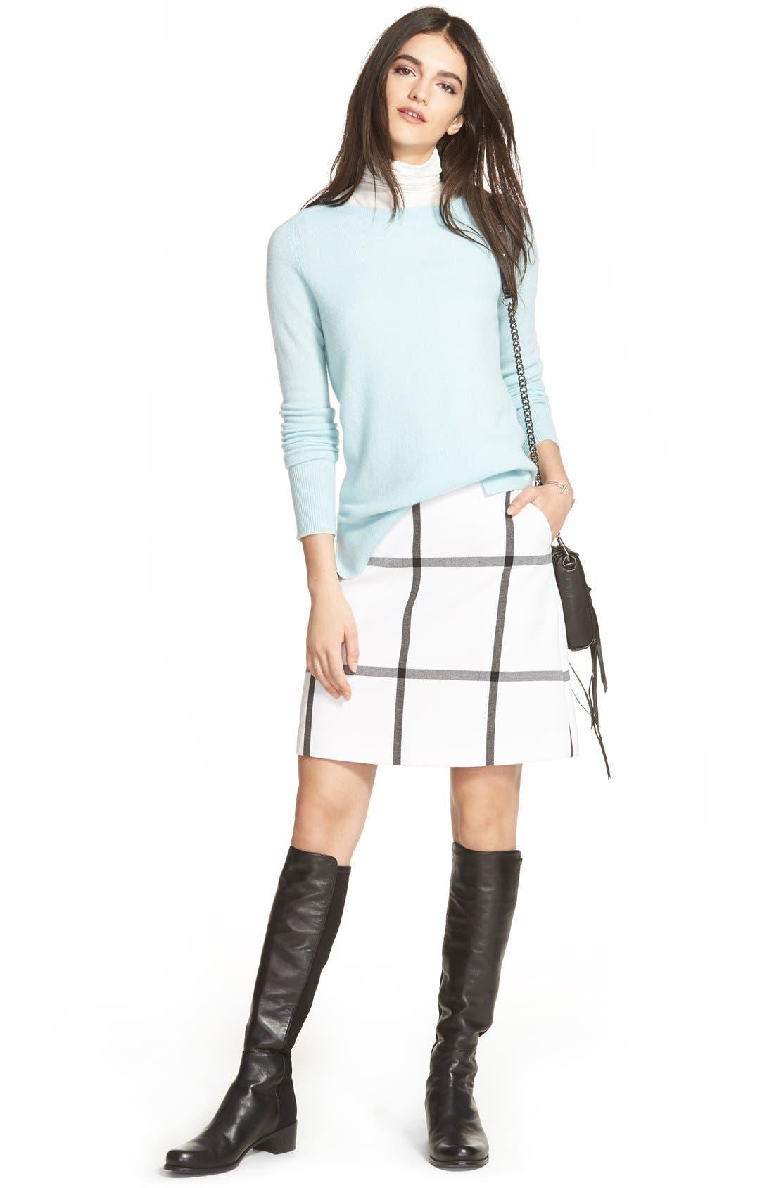 Alternate Image 5  - Halogen® Pleat Front A-Line Skirt