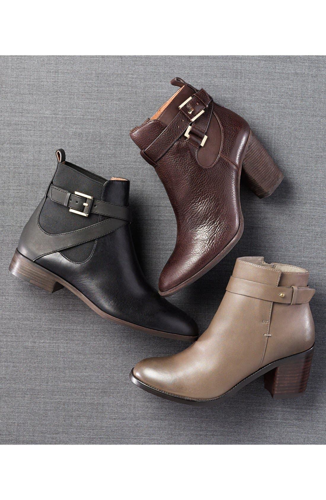Alternate Image 7  - Halogen® 'Glenna' Leather Ankle Bootie (Women)