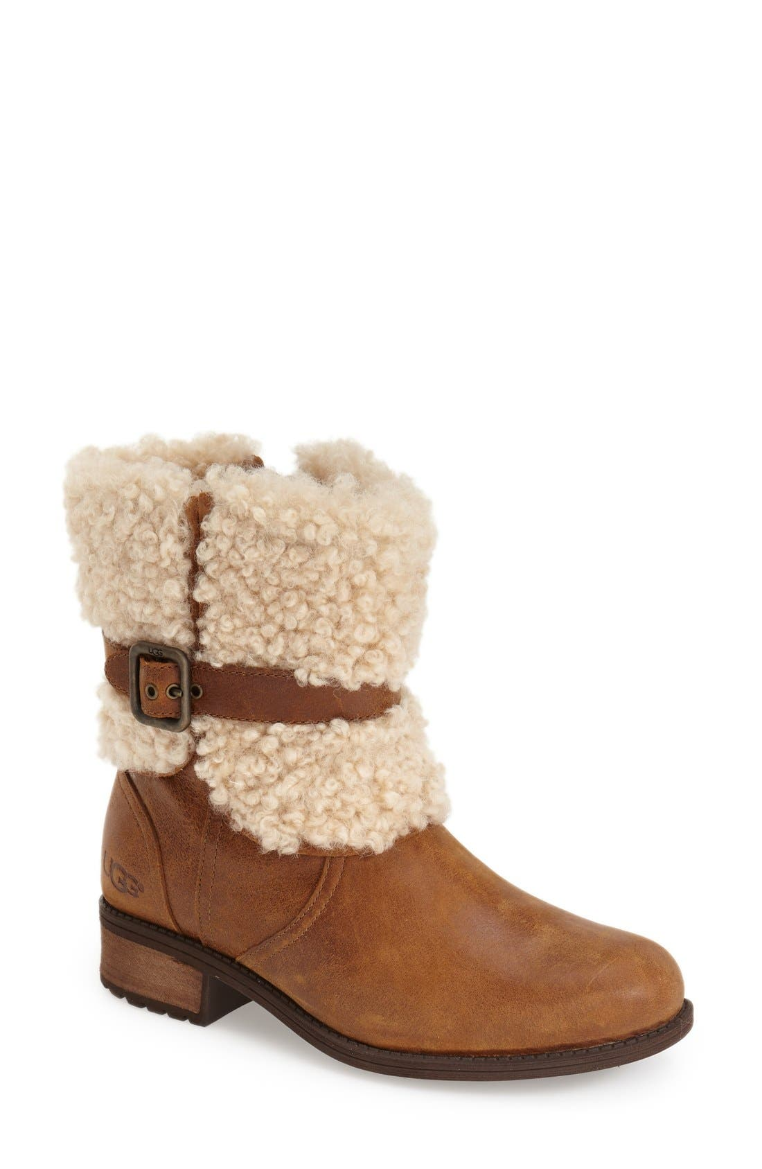 Alternate Image 1 Selected - UGG® Blayre II Shearling Cuff Bootie (Women)