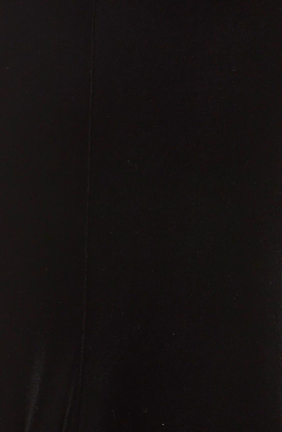 Alternate Image 3  - Badgley MischkaBeaded Mesh & Velvet Gown