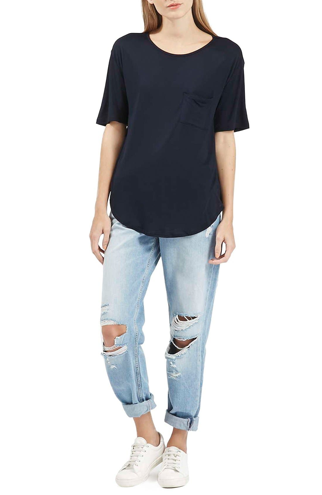 Alternate Image 2  - Topshop Pocket Tee
