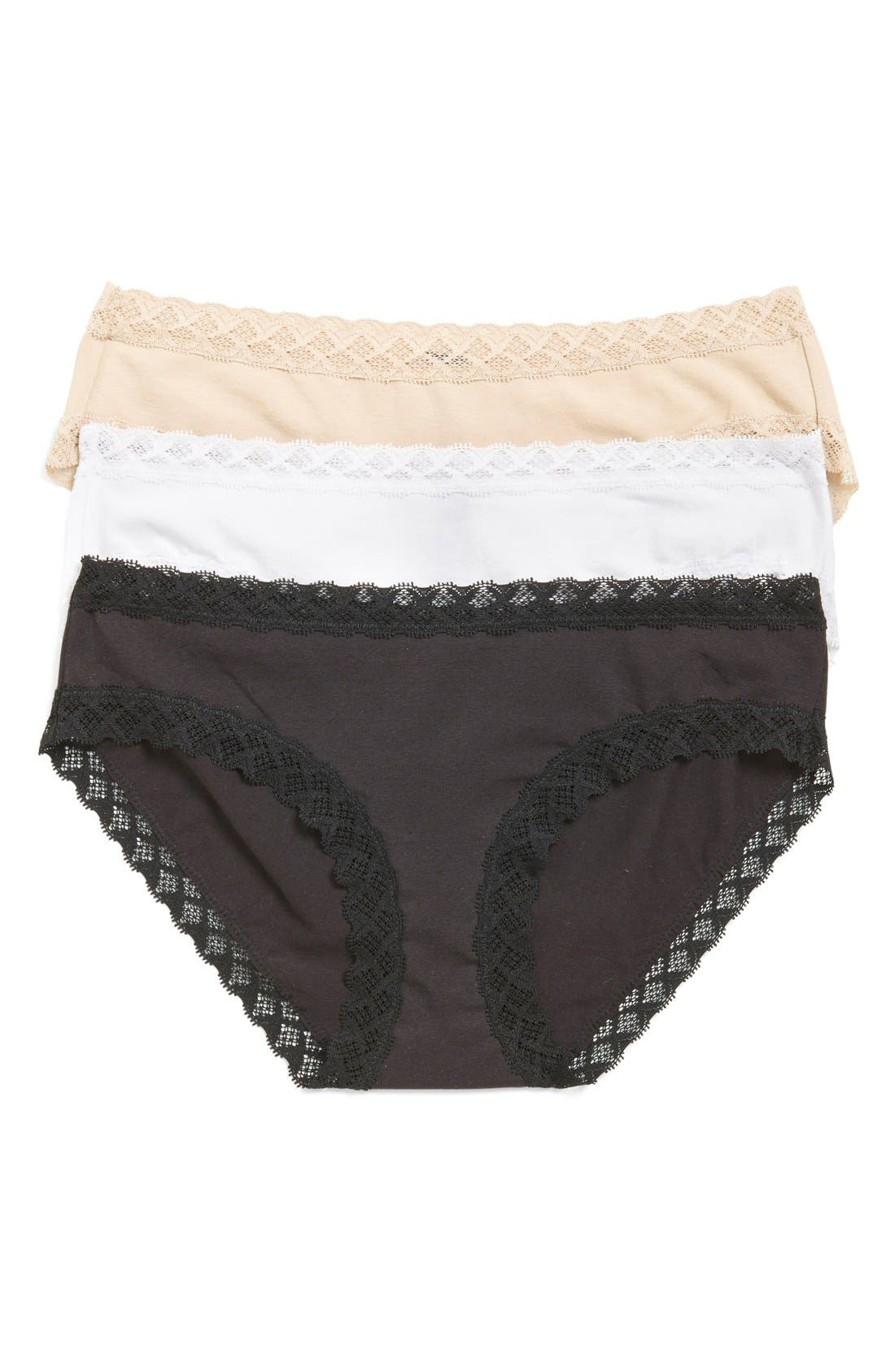 NATORI Bliss 3-Pack Cotton Girl Briefs