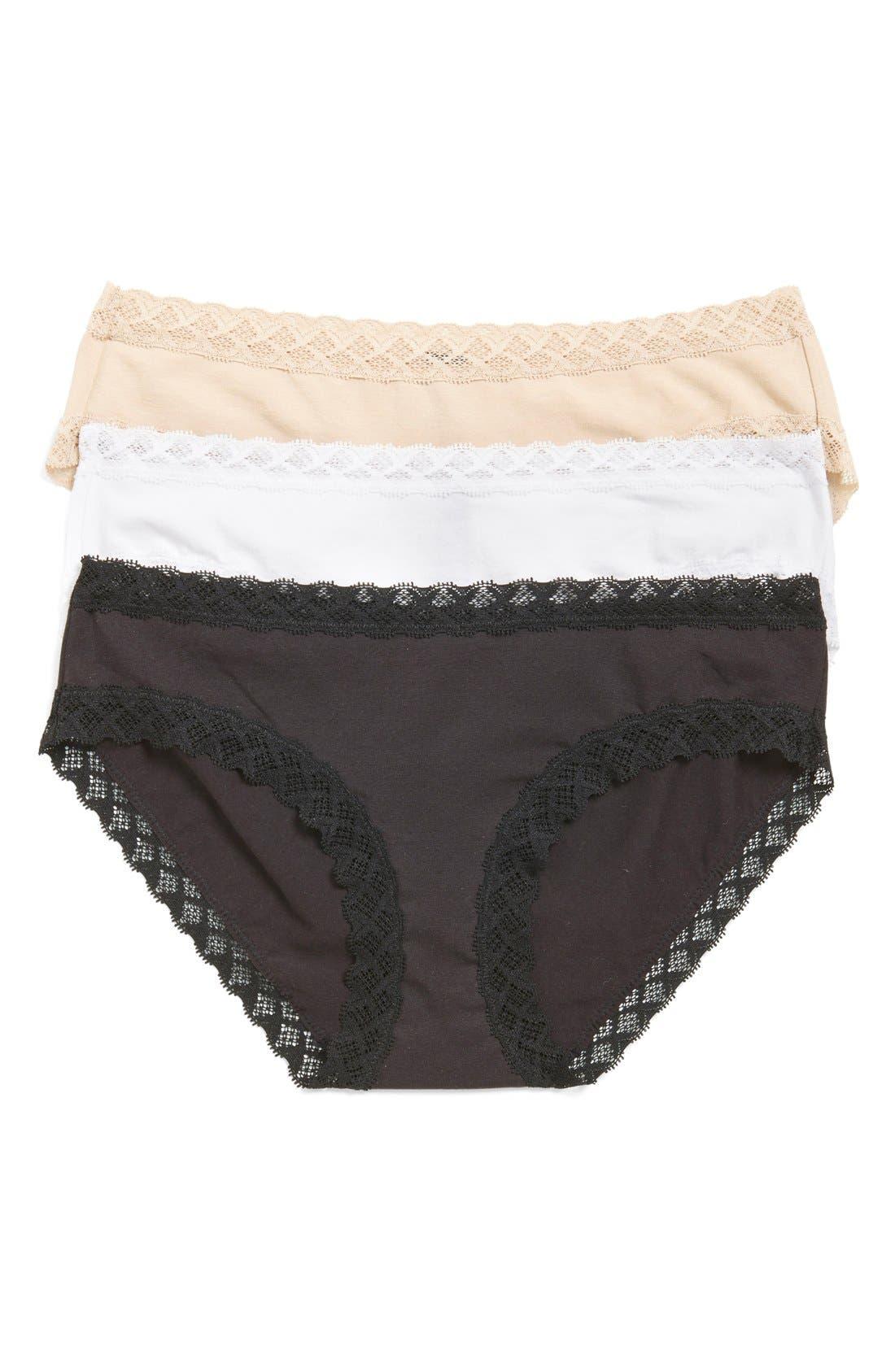 Main Image - Natori Bliss 3-Pack Cotton Briefs