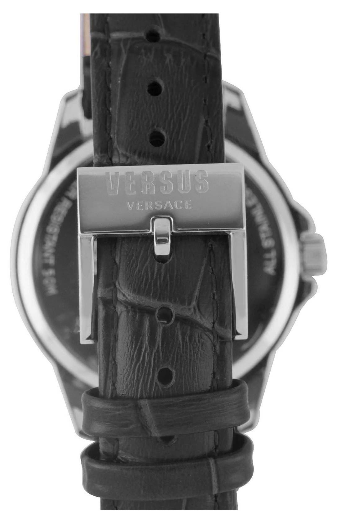 Alternate Image 2  - VERSUS by Versace'Tokyo' Leather Strap Watch, 38mm