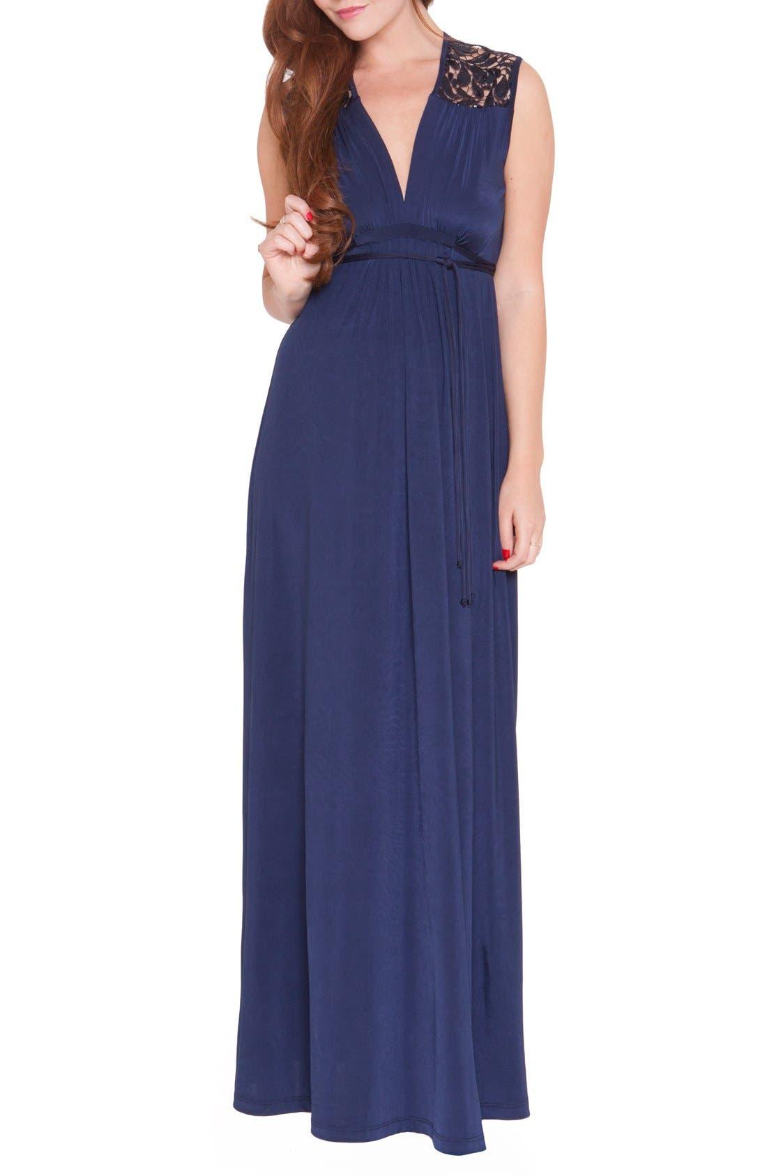 Olian 'Angelina' Maternity Maxi Dress