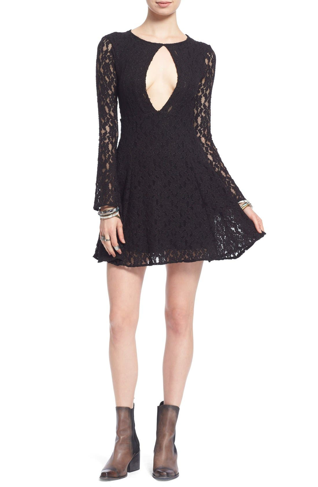 Main Image - Free People Corded Lace Fit & Flare Dress