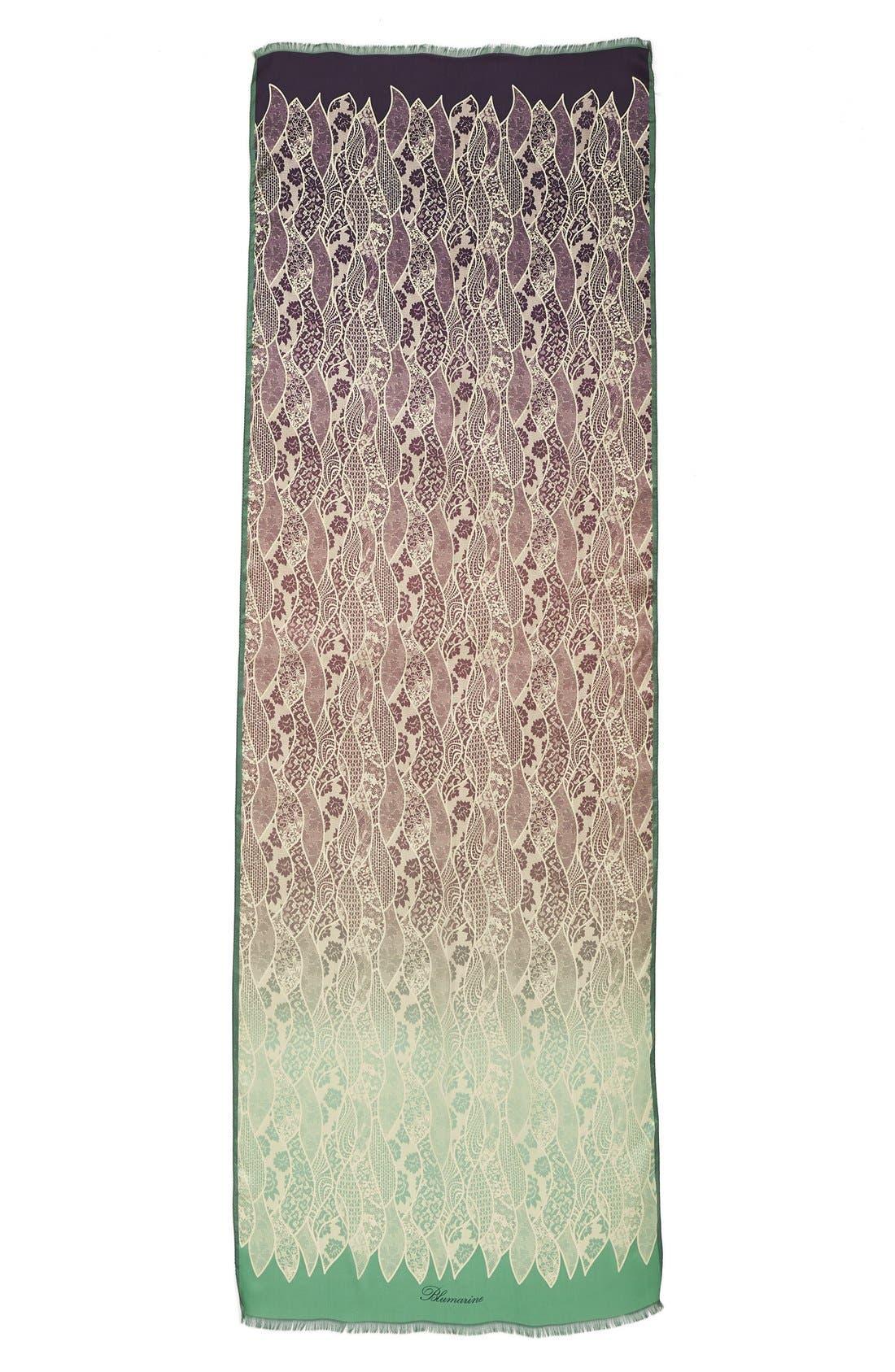 Alternate Image 2  - Blumarine'Raso' Ombré Silk Chiffon Scarf
