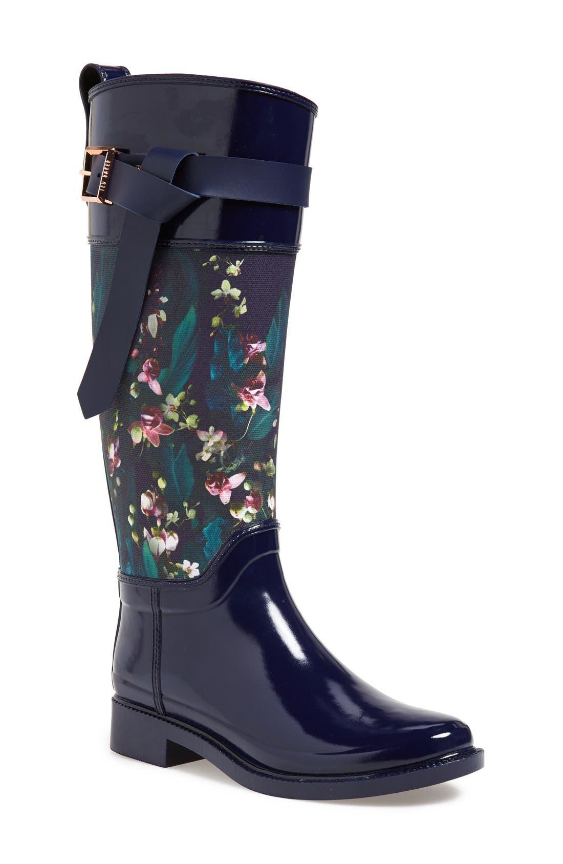 Alternate Image 1 Selected - Ted Baker London 'Hampto' Waterproof Rain Boot (Women)