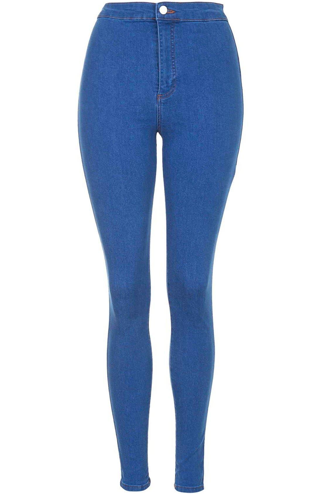 Alternate Image 3  - Topshop Moto 'Joni' High Rise Skinny Jeans (Short)