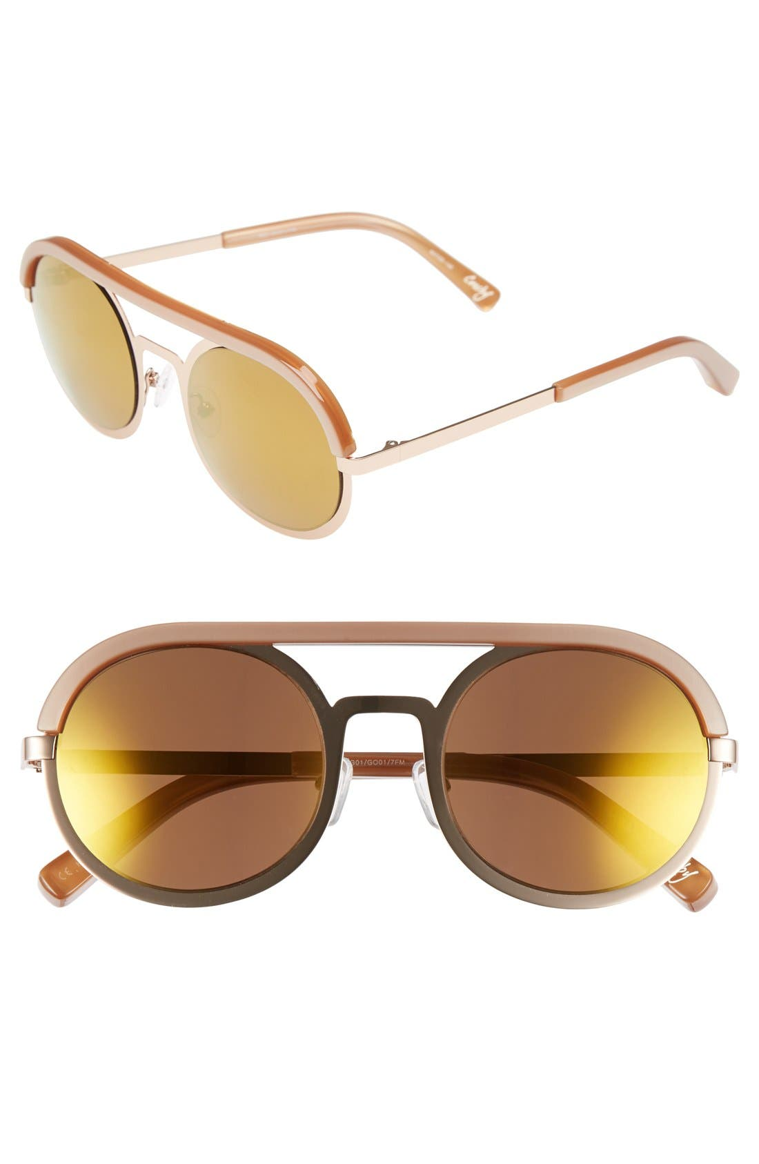 Main Image - Elizabeth and James 'Crosby' 50mm Round Sunglasses