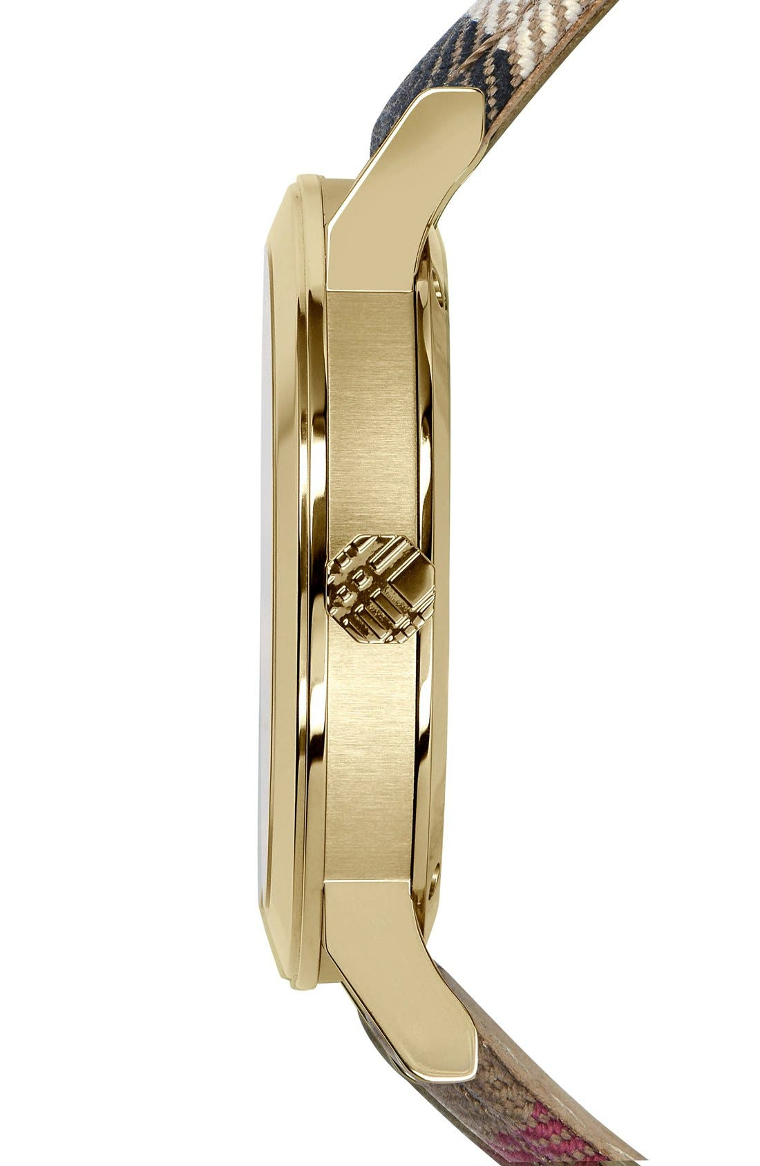 Alternate Image 4  - Burberry 'The City' Woven Strap Watch, 38mm