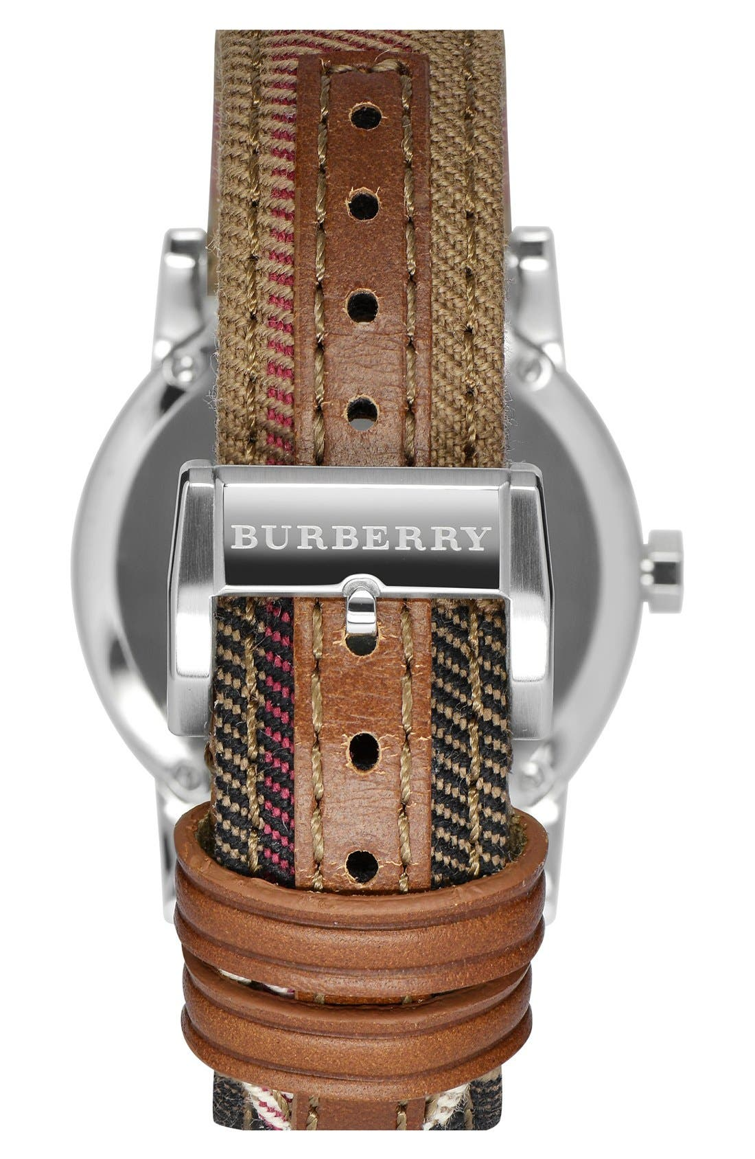 Alternate Image 2  - Burberry 'The City' Woven Strap Watch, 34mm
