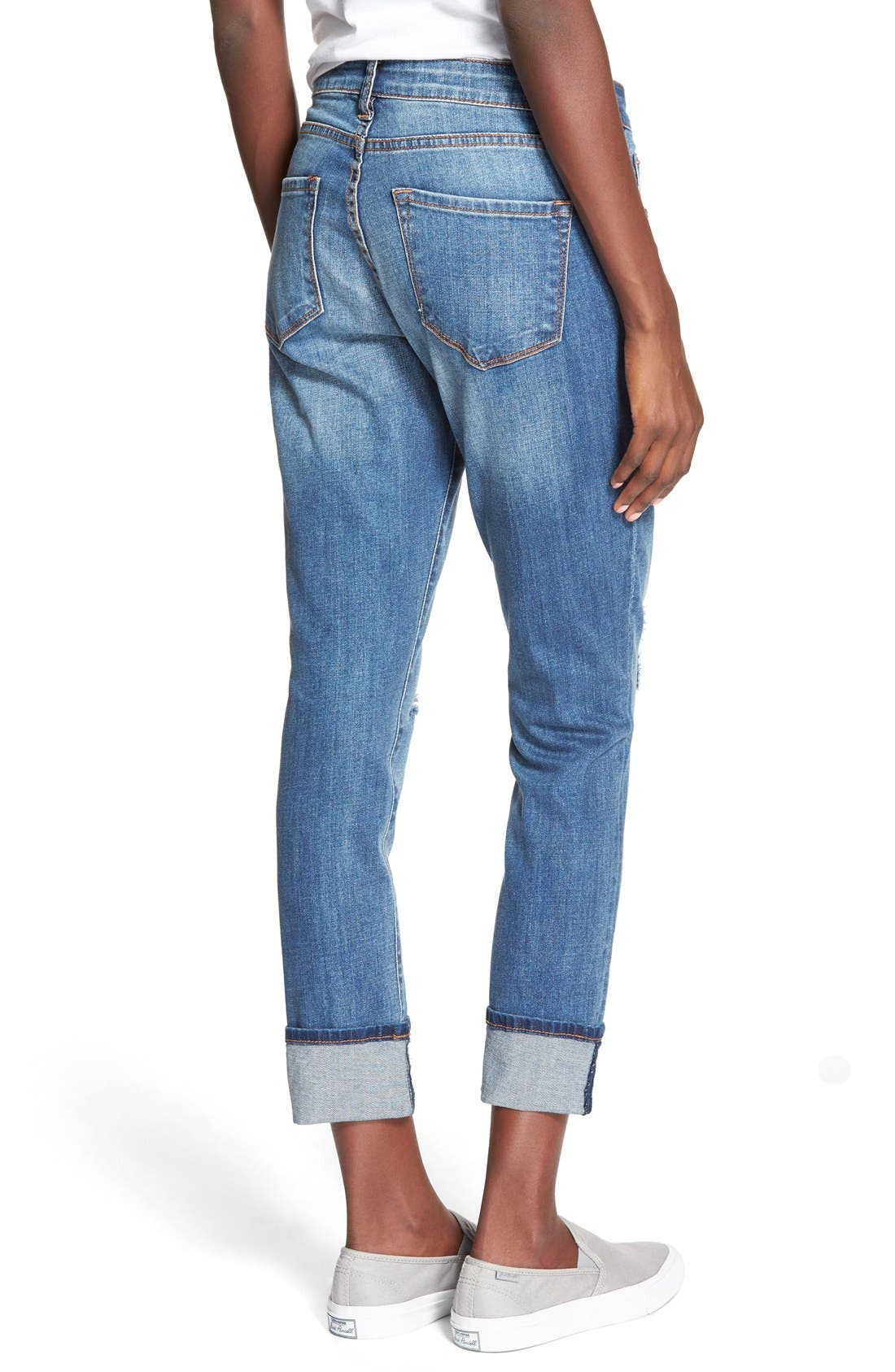 Alternate Image 3  - STS Blue 'Tomboy' High Rise Boyfriend Jeans (Pismo Beach)