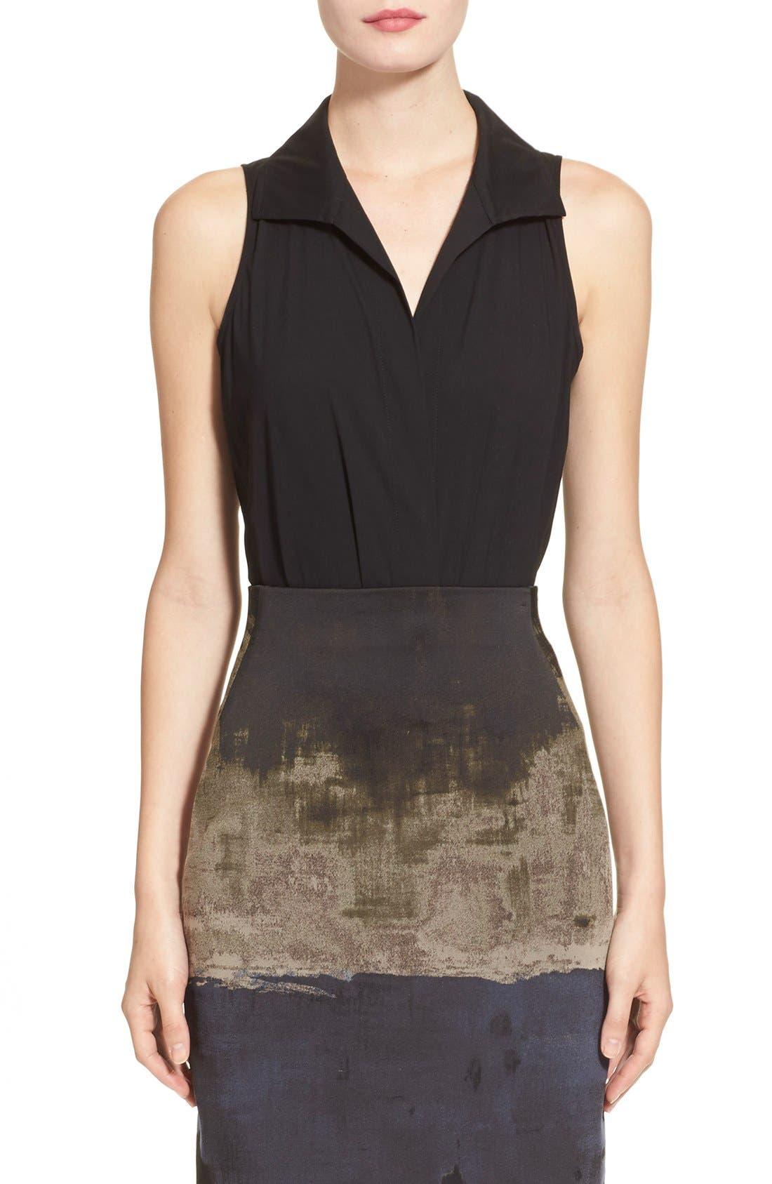 Alternate Image 1  - Donna KaranNew York SleevelessStretch Cotton Bodysuit