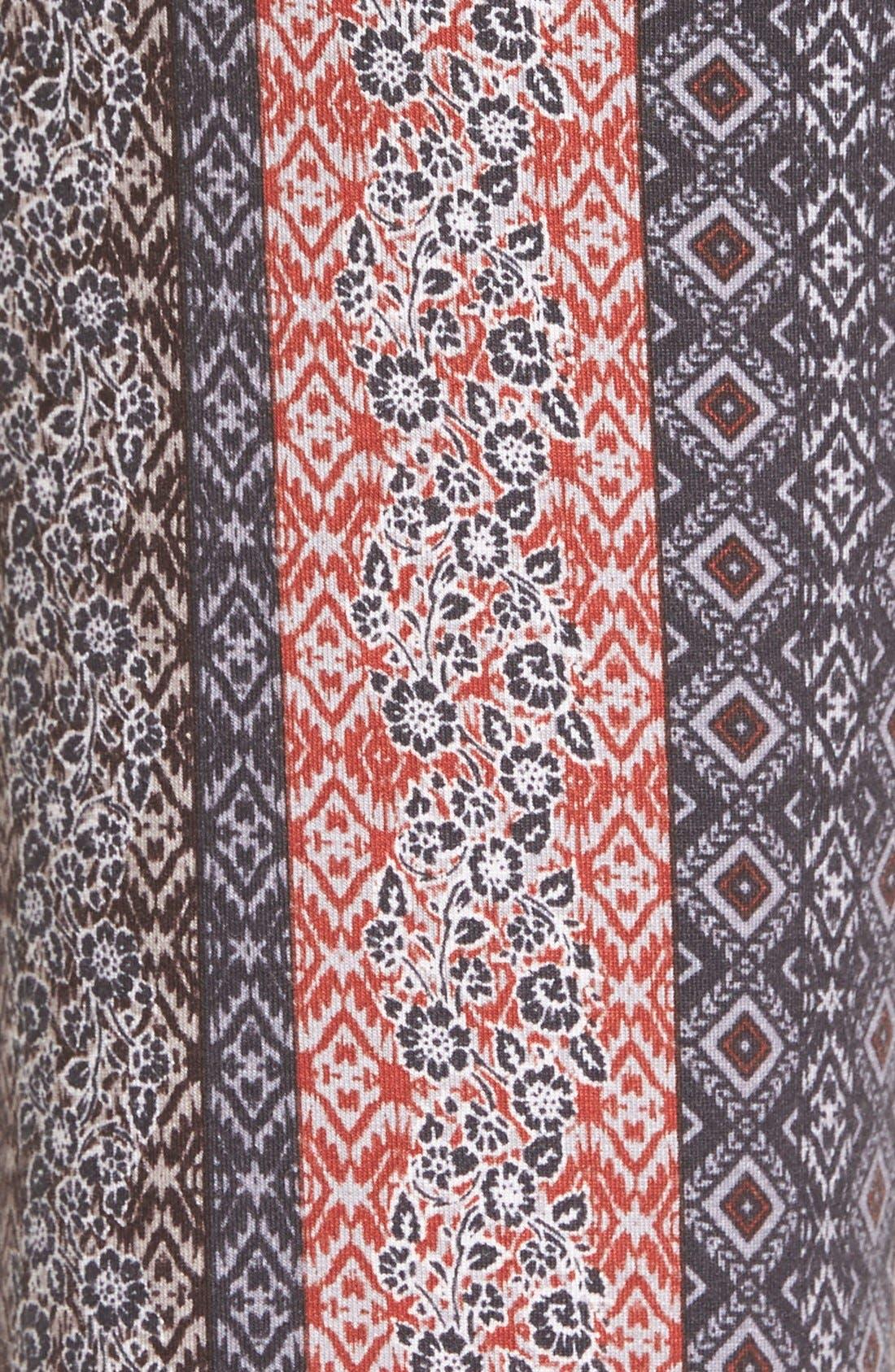 Alternate Image 5  - h.i.p. Mixed Print Flare Leg Pants