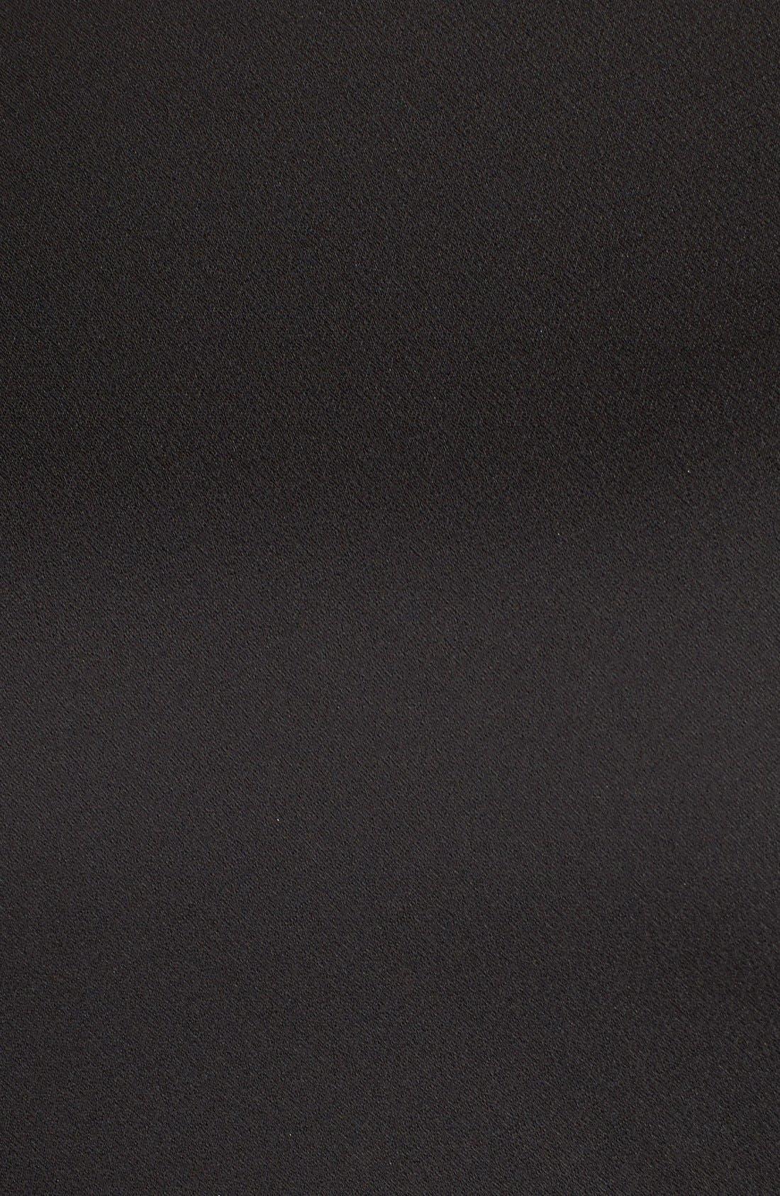 Alternate Image 5  - Adrianna PapellSatin Column Gown withChiffon Cape