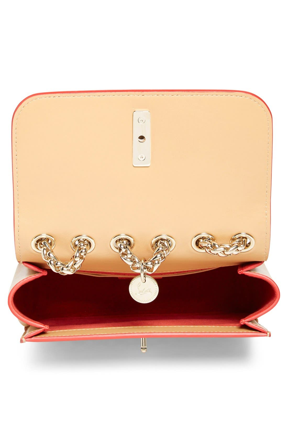 Alternate Image 3  - Christian Louboutin 'Sweet Charity' Spike Calfskin Shoulder Bag