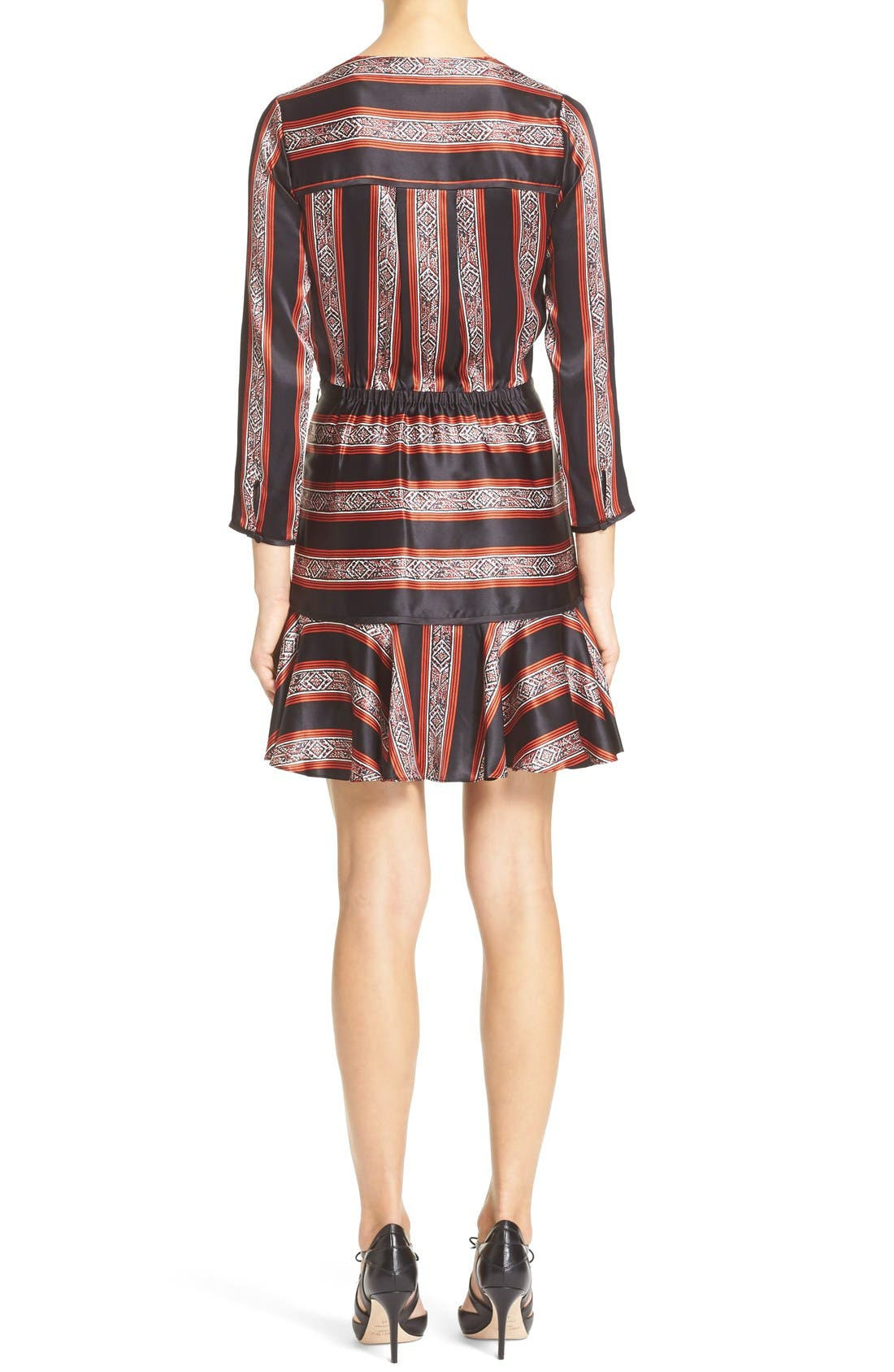 Alternate Image 2  - Veronica Beard 'Ivy' Print SilkFlounce Dress