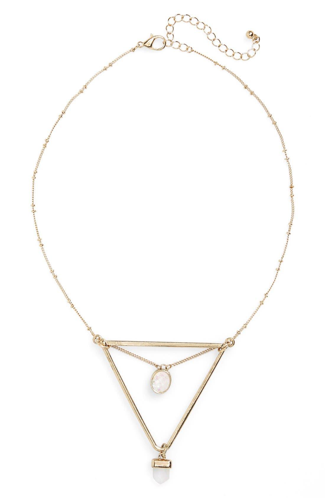 Main Image - BP. 'Geo Triangle Stone' Necklace