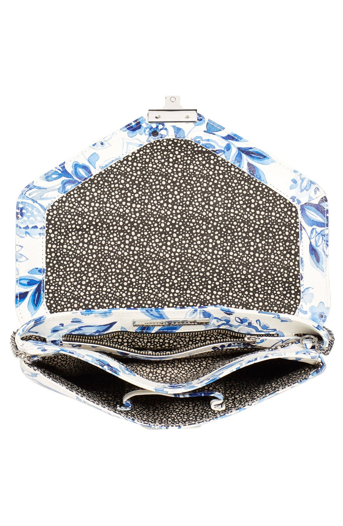 Alternate Image 4  - Loeffler Randall 'Lock' Floral Print Leather Clutch