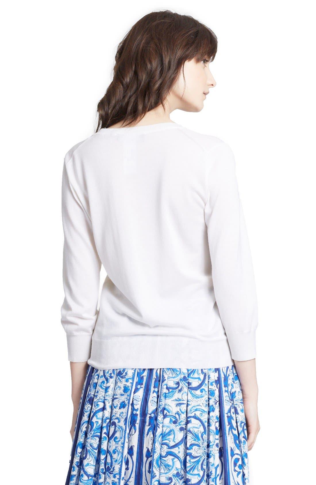 Alternate Image 2  - Dolce&Gabbana V-Neck Cashmere & Silk Sweater