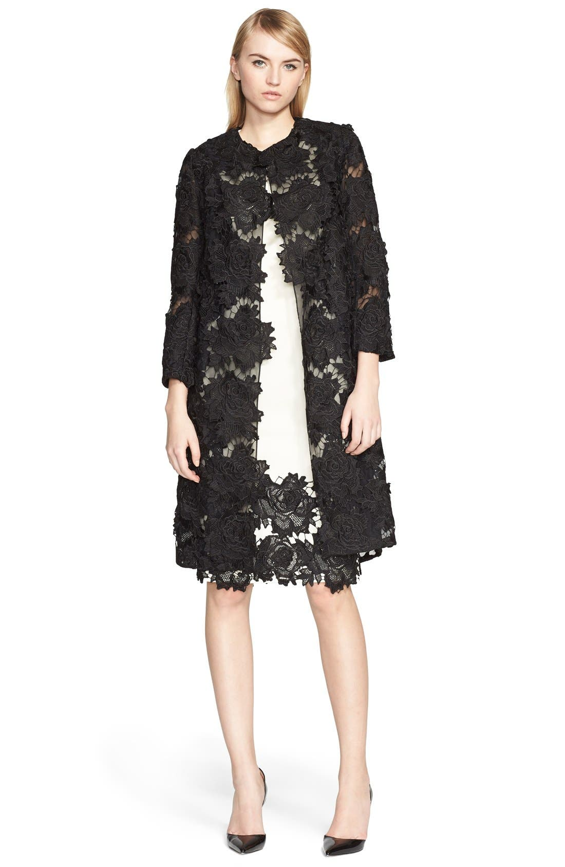 Alternate Image 3  - Lela Rose Guipure Lace Appliqué Sheath Dress