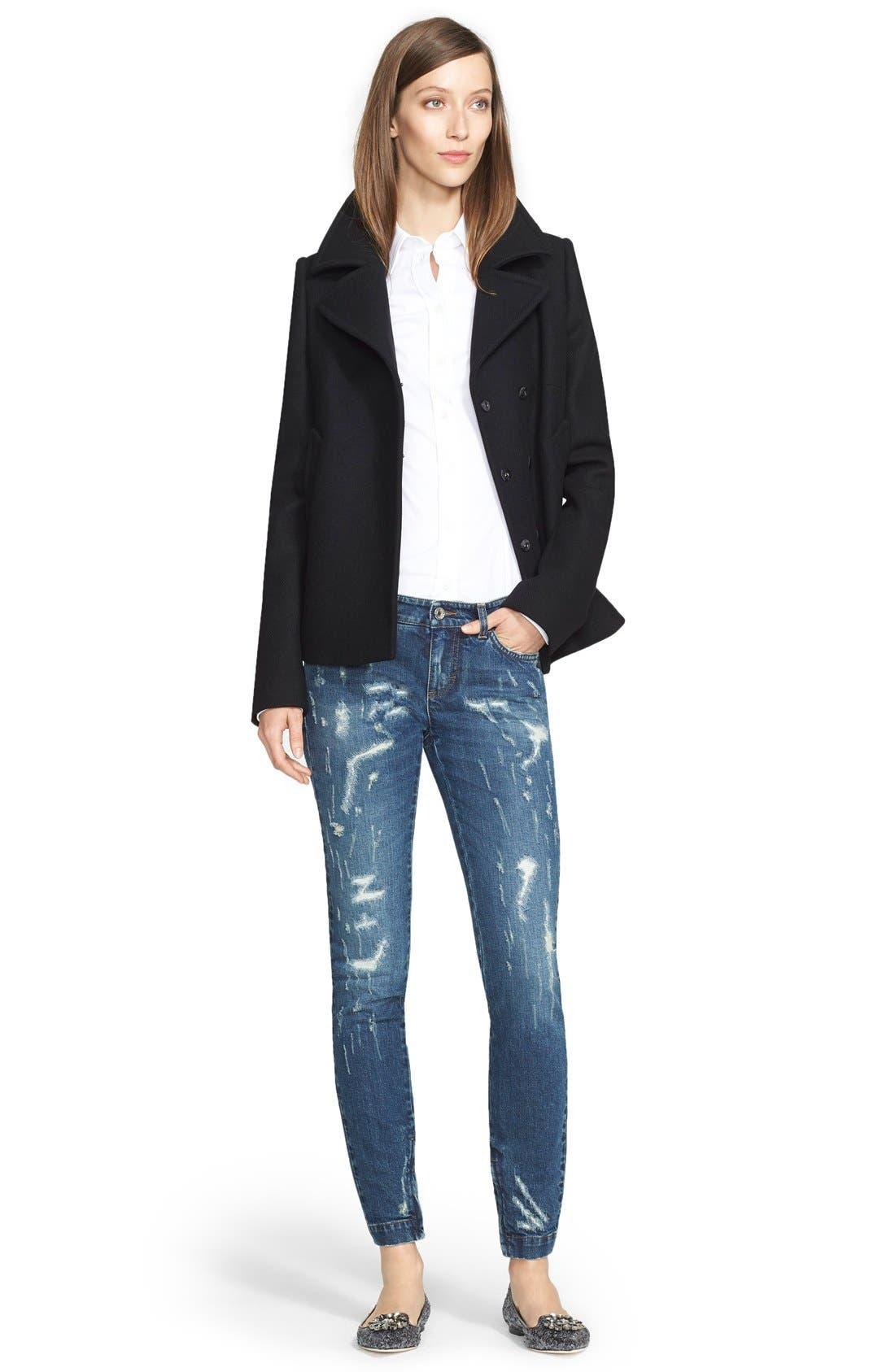Alternate Image 4  - Dolce&Gabbana Distressed Skinny Jeans