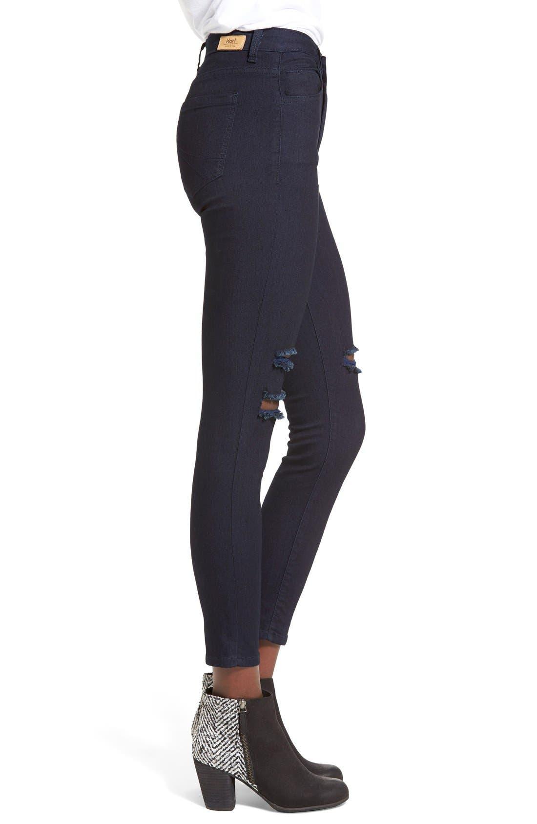 Alternate Image 3  - HARTDenim'Nic'Destroyed Skinny Crop Jeans