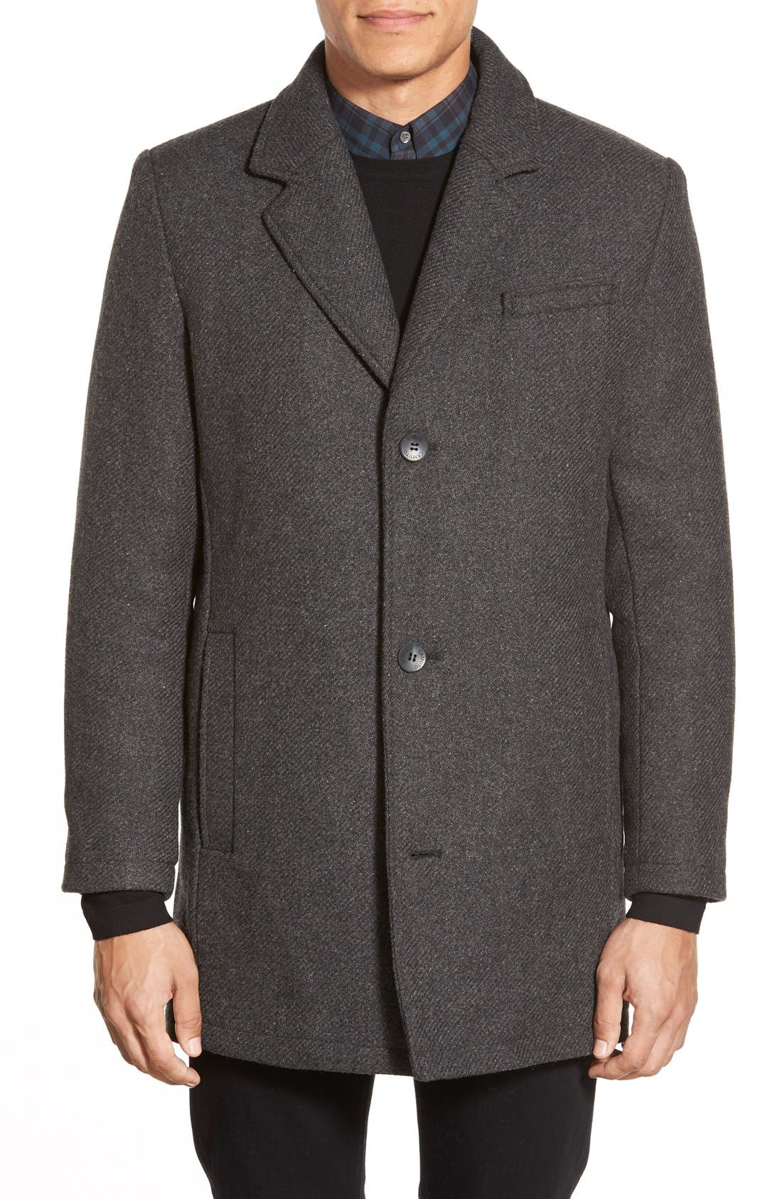 Alternate Image 3  - Vince Camuto Car Coat with Removable Bib