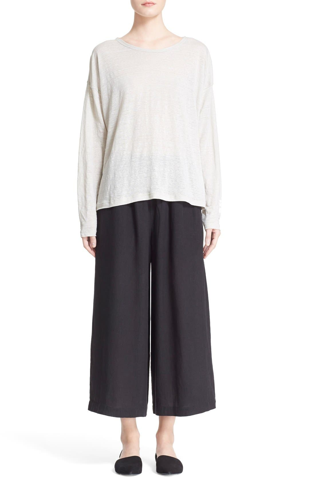 Alternate Image 7  - eskandarHandkerchief Linen Flare Crop Pants