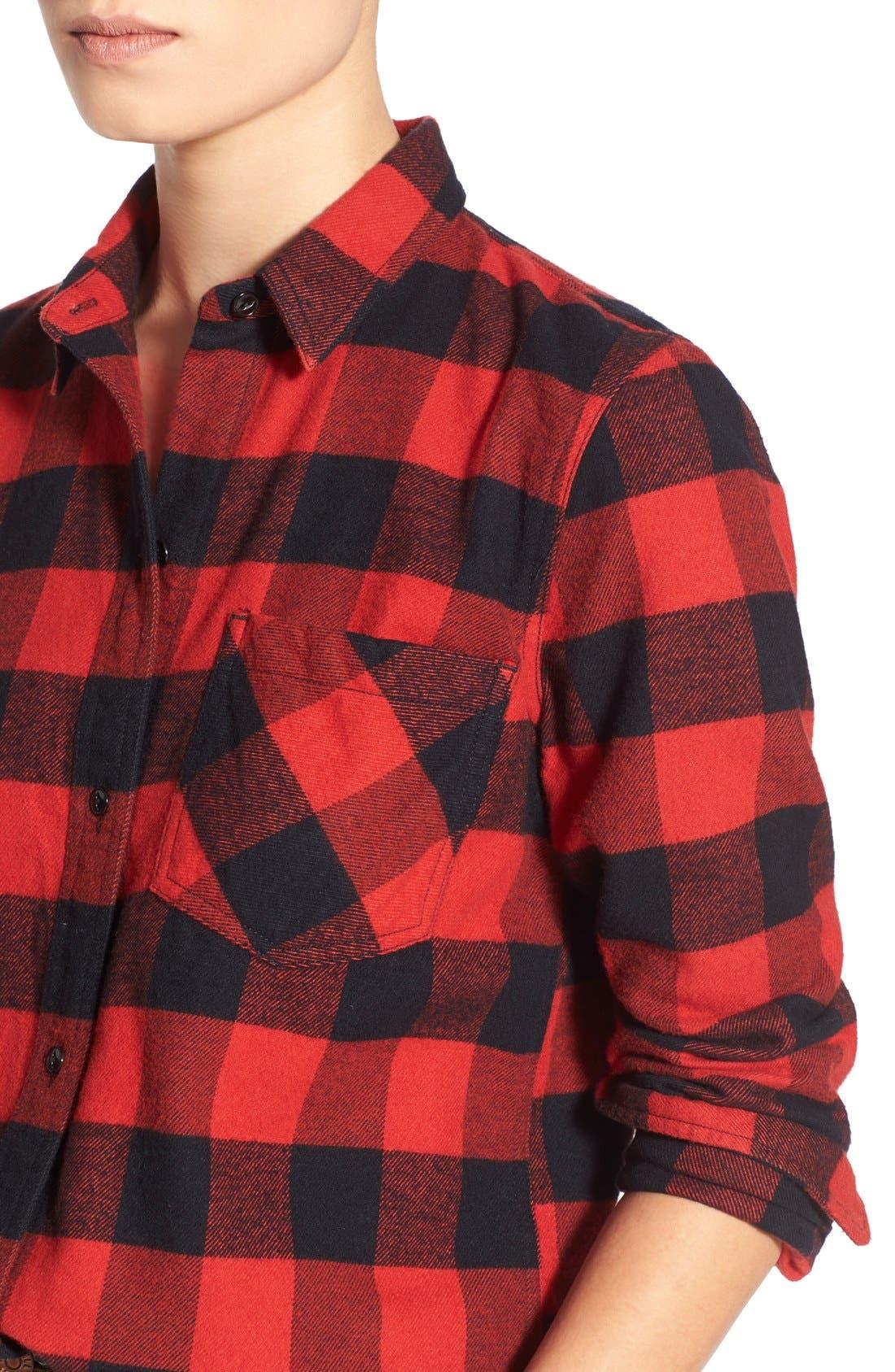 Alternate Image 4  - Madewell 'Ex Boyfriend' Buffalo Check Shirt