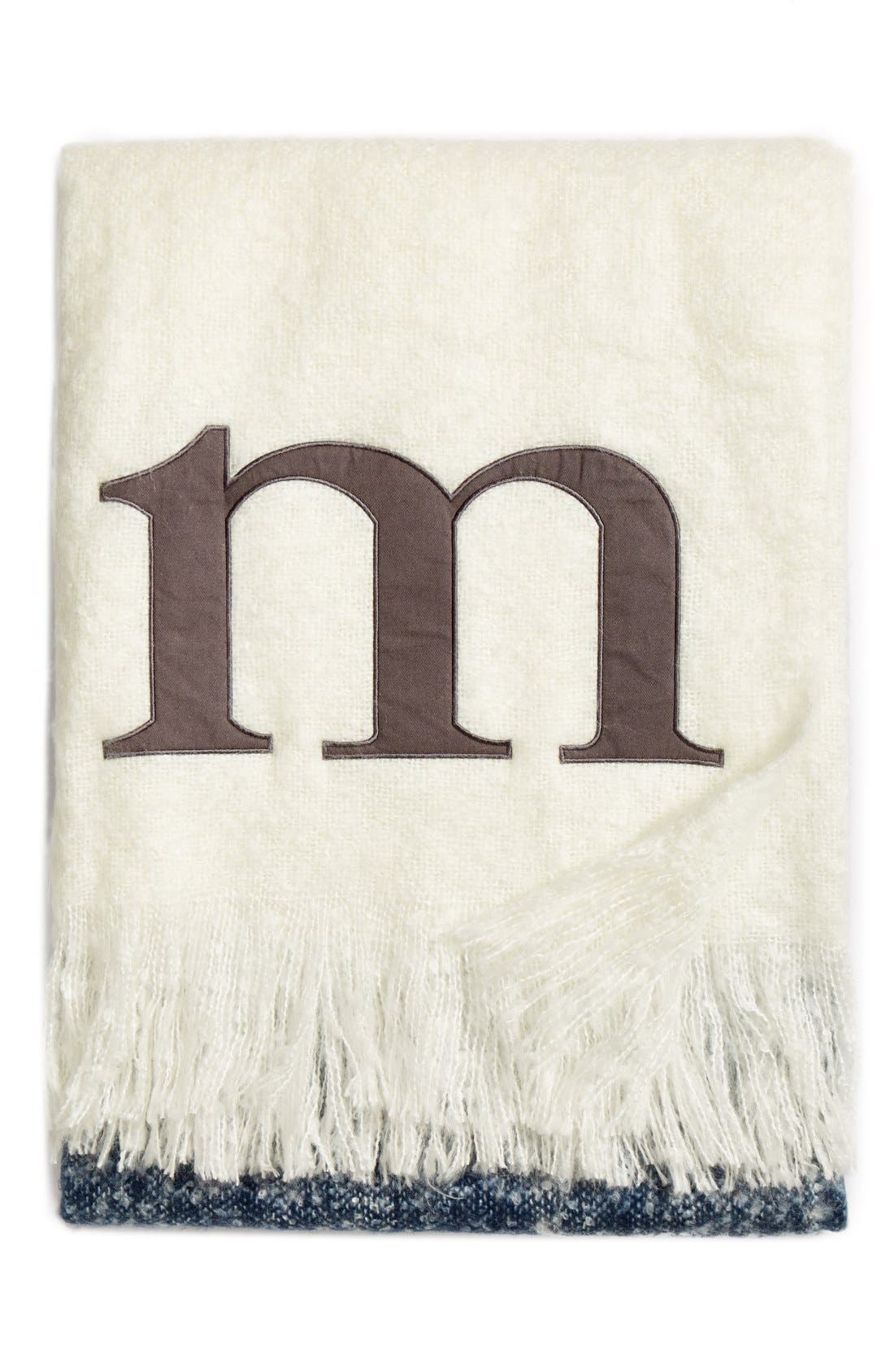 Alternate Image 1 Selected - Nordstrom at Home Monogram Colorblock Throw
