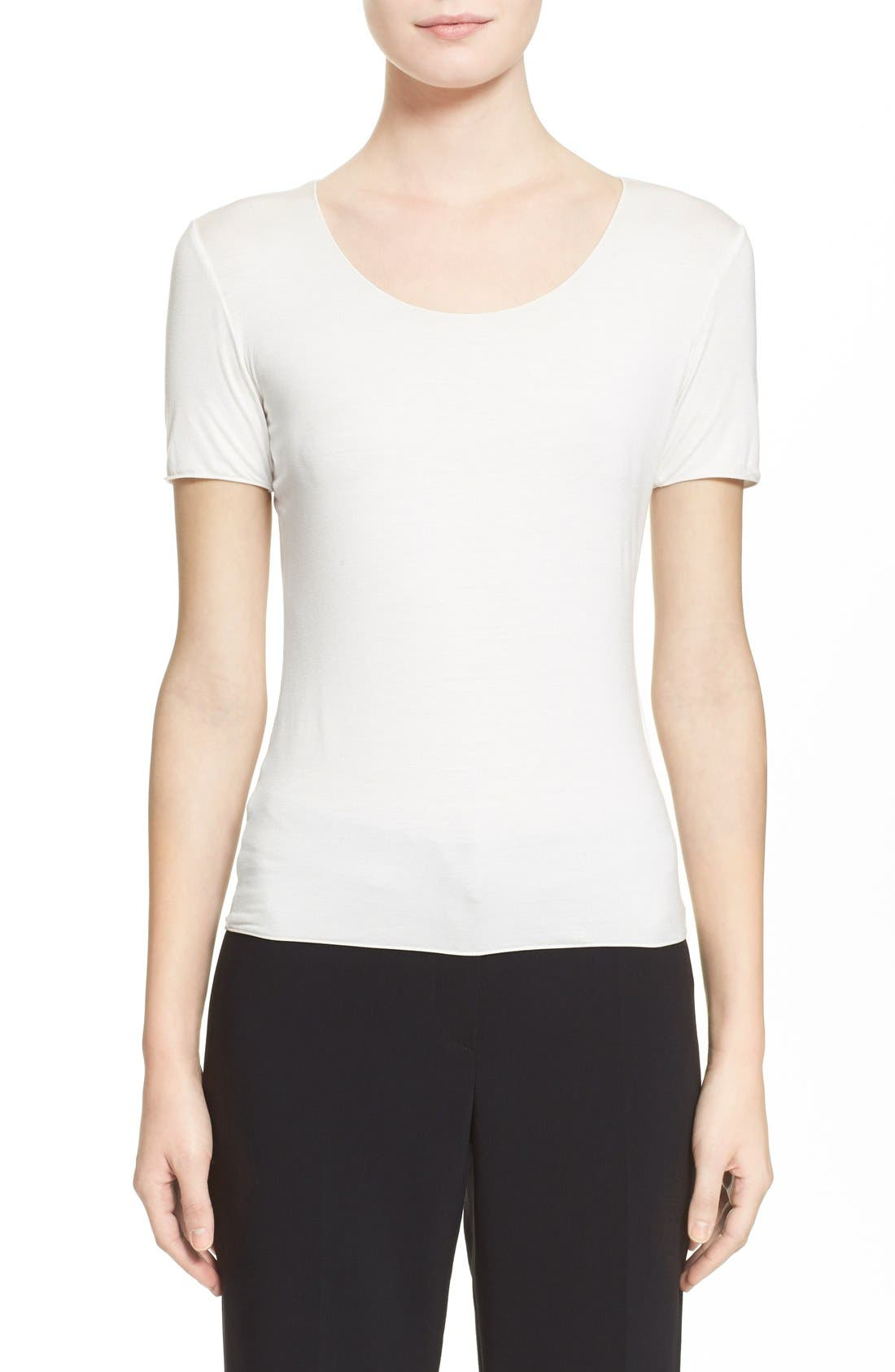 Alternate Image 1 Selected - Armani Collezioni Short Sleeve Jersey Tee