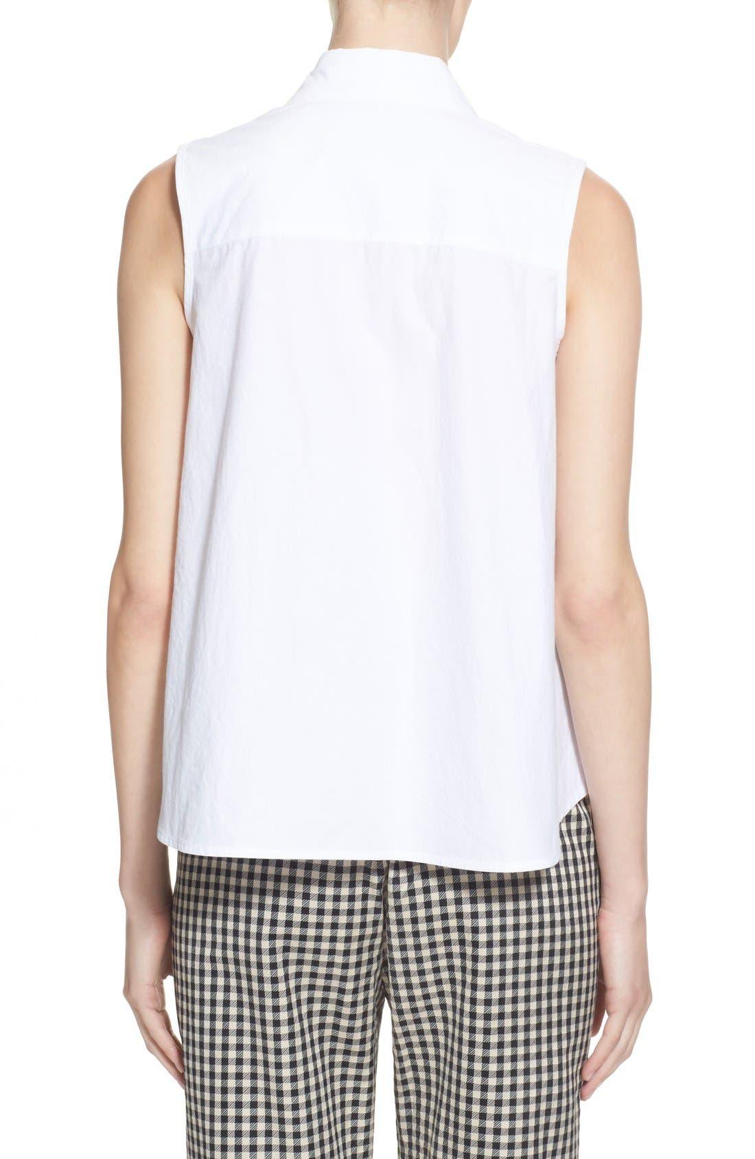 Alternate Image 2  - Isa Arfen Sleeveless A-Line Shirt