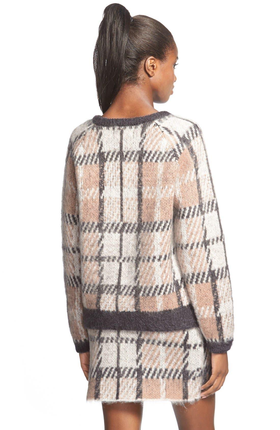 Alternate Image 3  - J.O.A. Plaid Crewneck Sweater