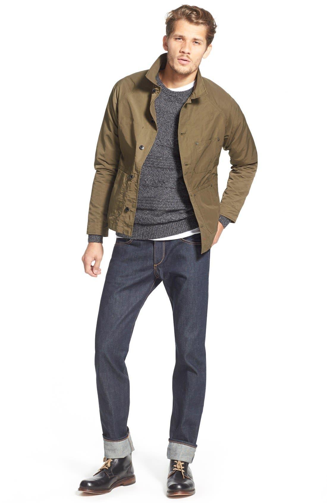 Alternate Image 5  - rag & bone Standard Issue Fit 2 Slim Fit Raw Selvedge Jeans (Indigo)