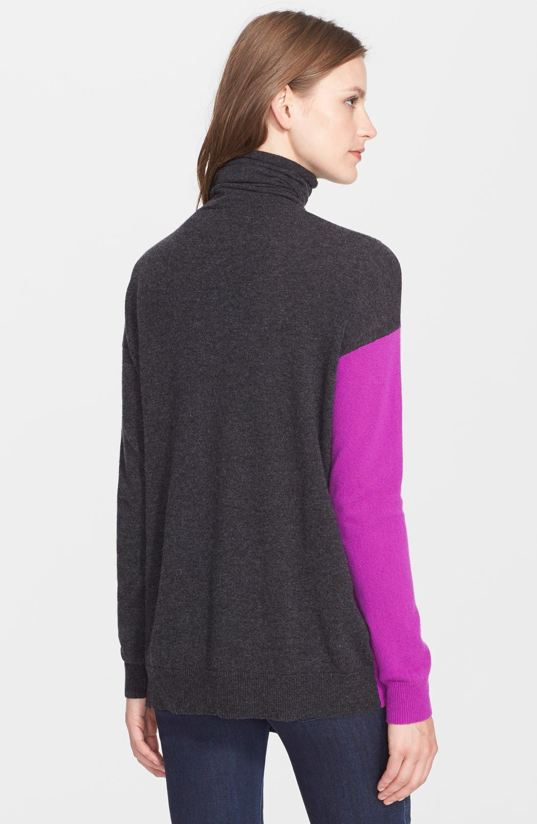 Alternate Image 2  - autumn cashmere Colorblock Overlap Cashmere Sweater