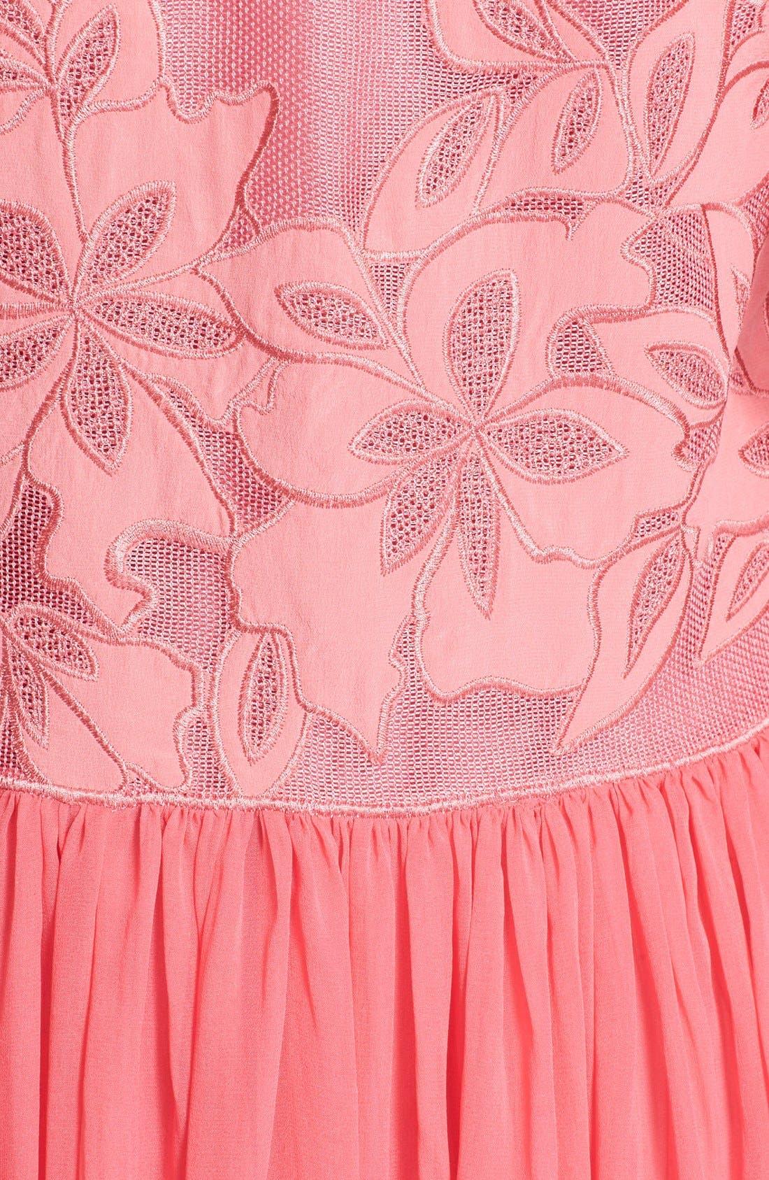 Alternate Image 5  - Rebecca Taylor Floral Appliqué Dress