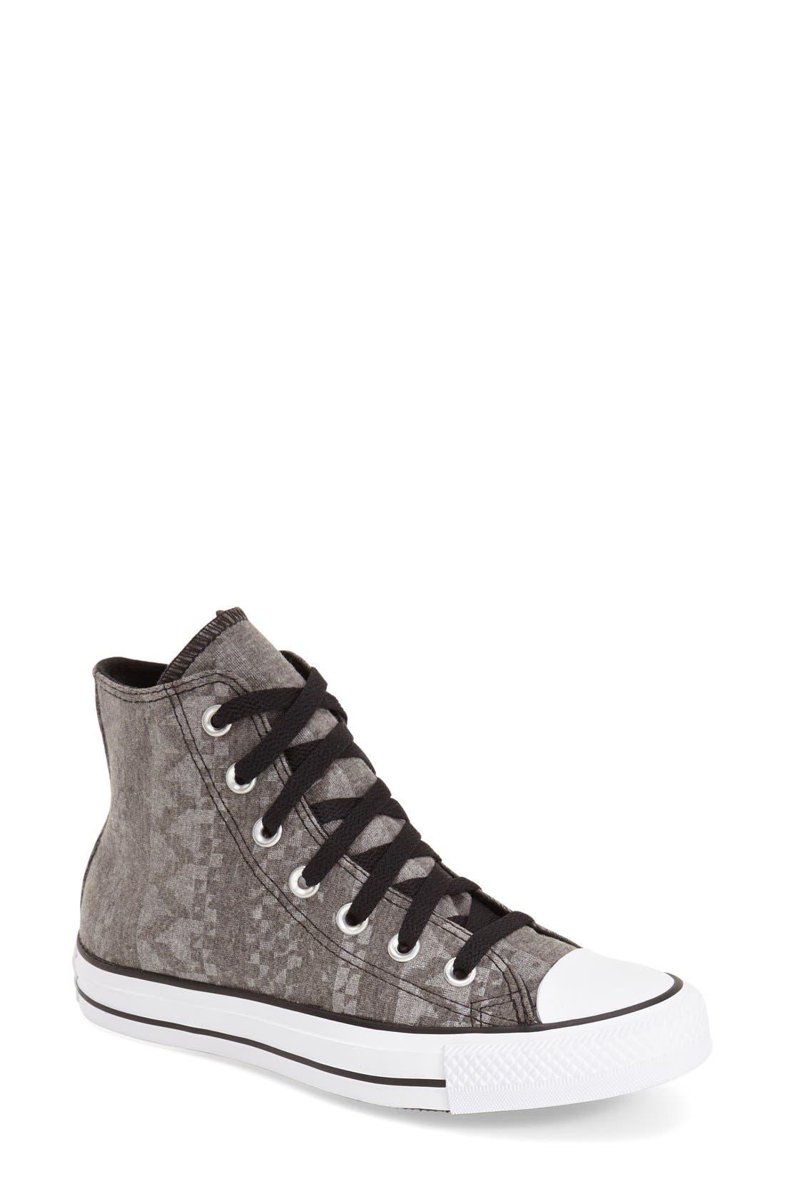 Main Image - Converse Chuck Taylor® All Star® Geo Print High Top Sneaker (Women)