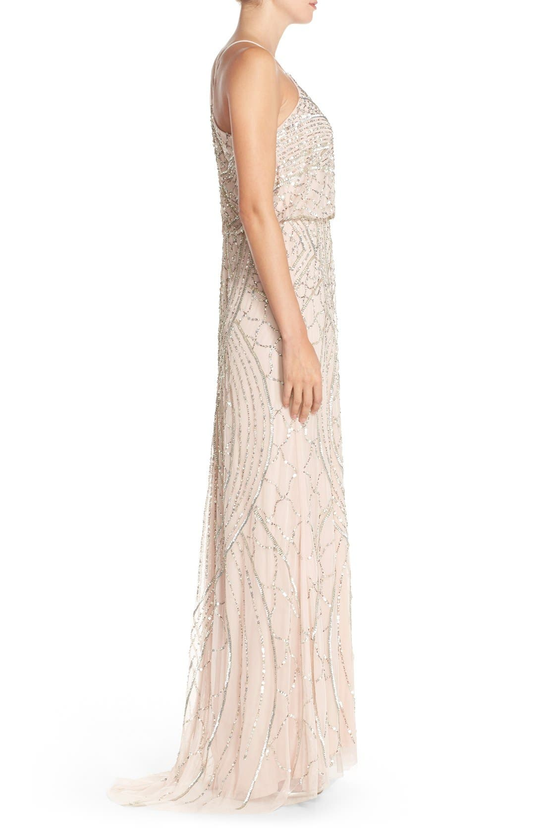Alternate Image 3  - Adrianna Papell Sequin Chiffon Blouson Gown
