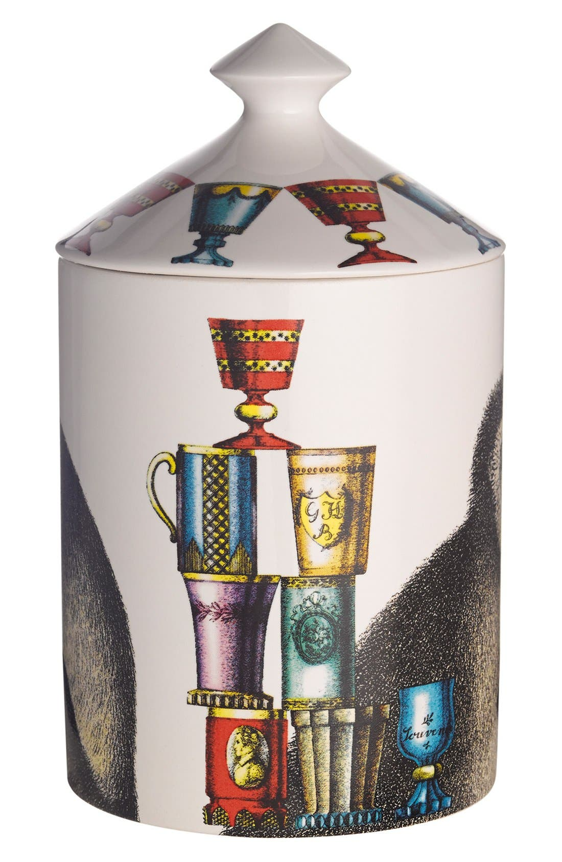 Alternate Image 2  - Fornasetti 'Scimmie - Otto' Lidded Candle