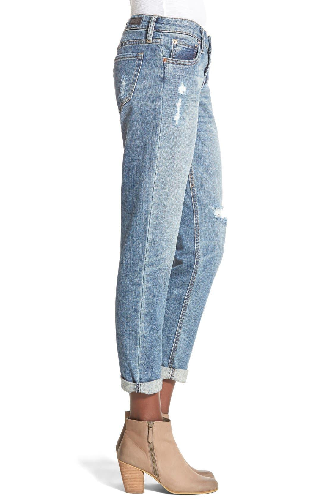 Alternate Image 4  - STS Blue 'Joey' Cropped Boyfriend Jeans