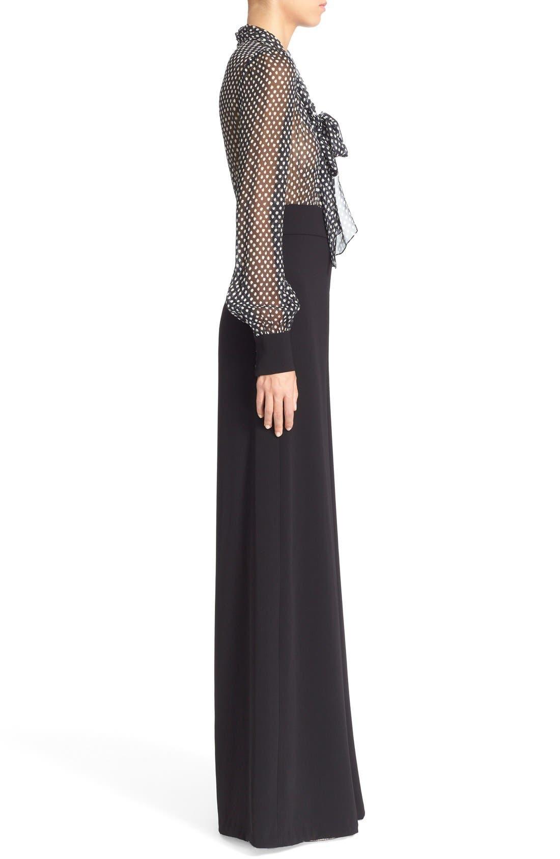 Alternate Image 3  - Diane von Furstenberg 'Arabella' Polka Dot Silk Jumpsuit