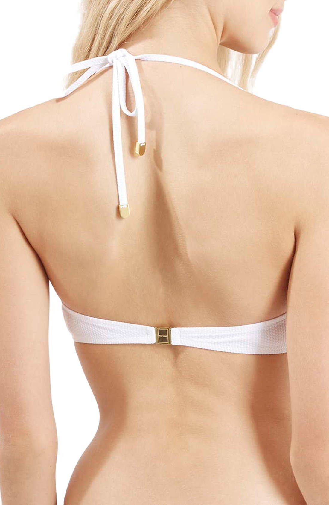 Alternate Image 3  - Topshop Ruched Halter Bikini Top