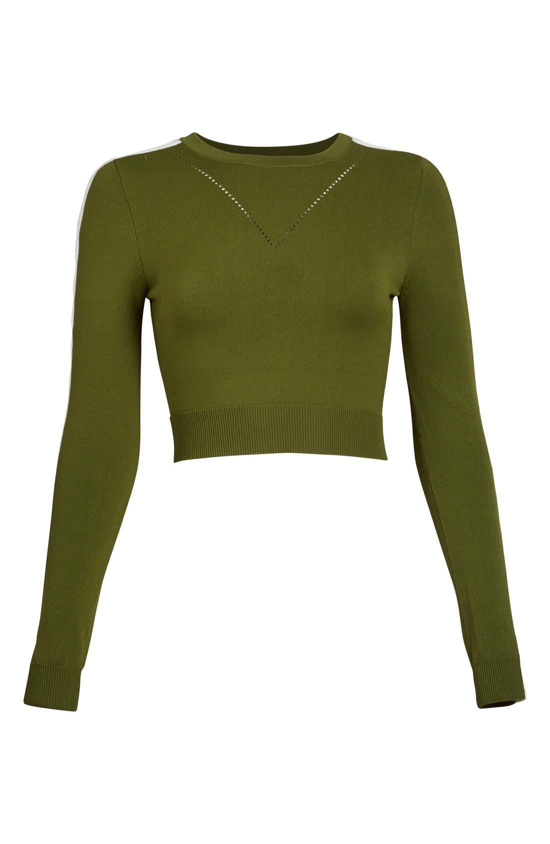 Alternate Image 5  - Opening Ceremony Cutout Long Sleeve Crewneck Crop Top