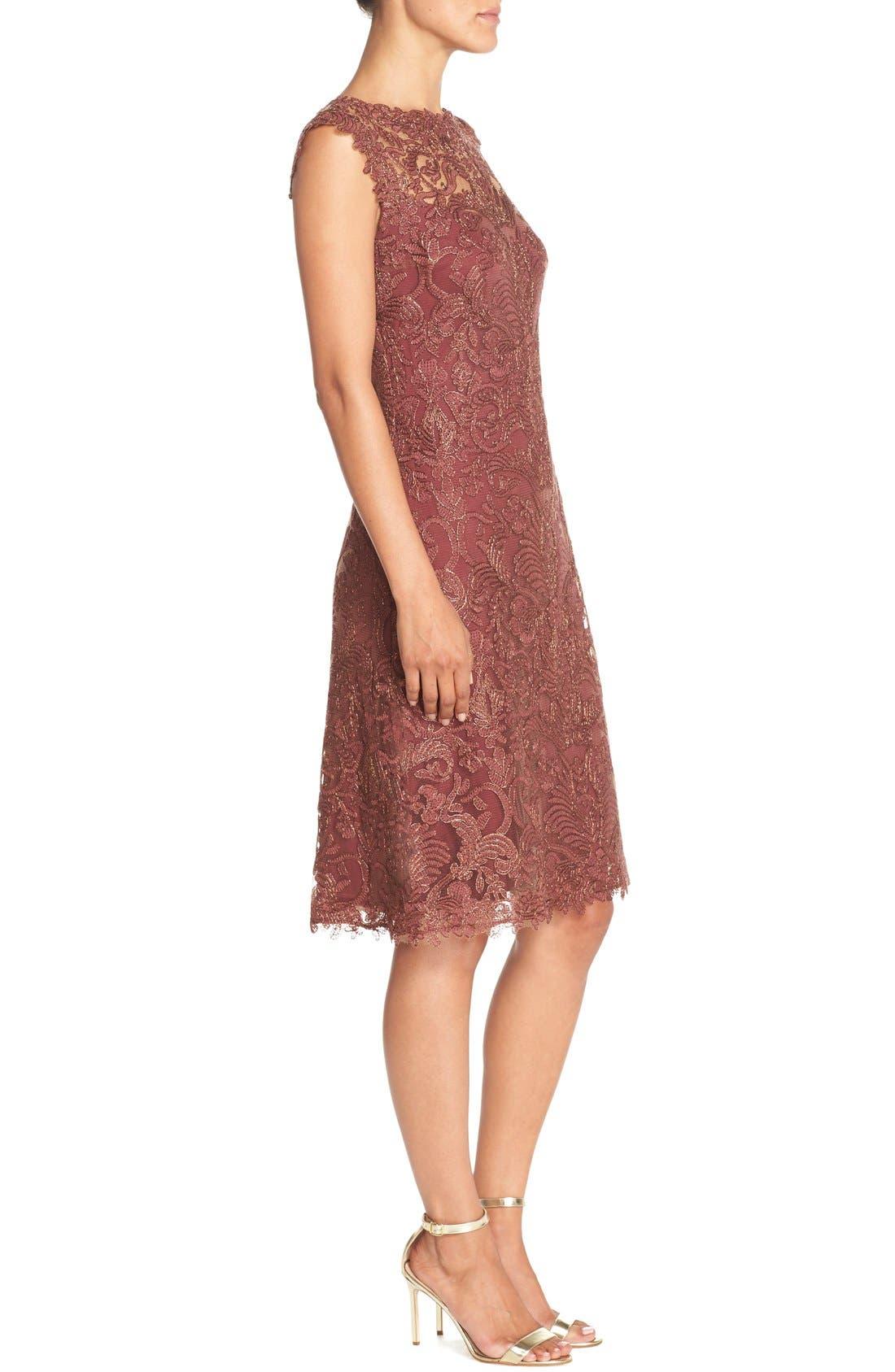 Alternate Image 3  - Tadashi Shoji Embroidered Tulle A-Line Dress
