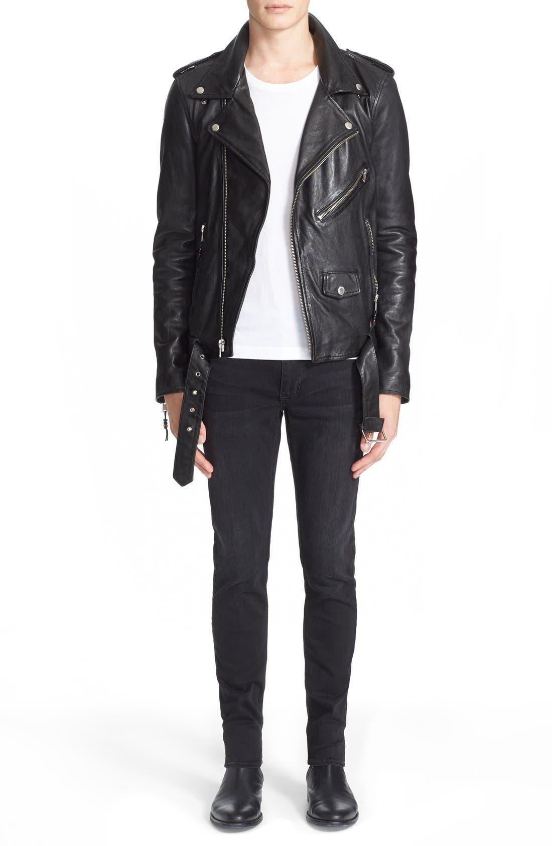 Alternate Image 8  - BLK DNM 'Leather Jacket 5' Leather Moto Jacket