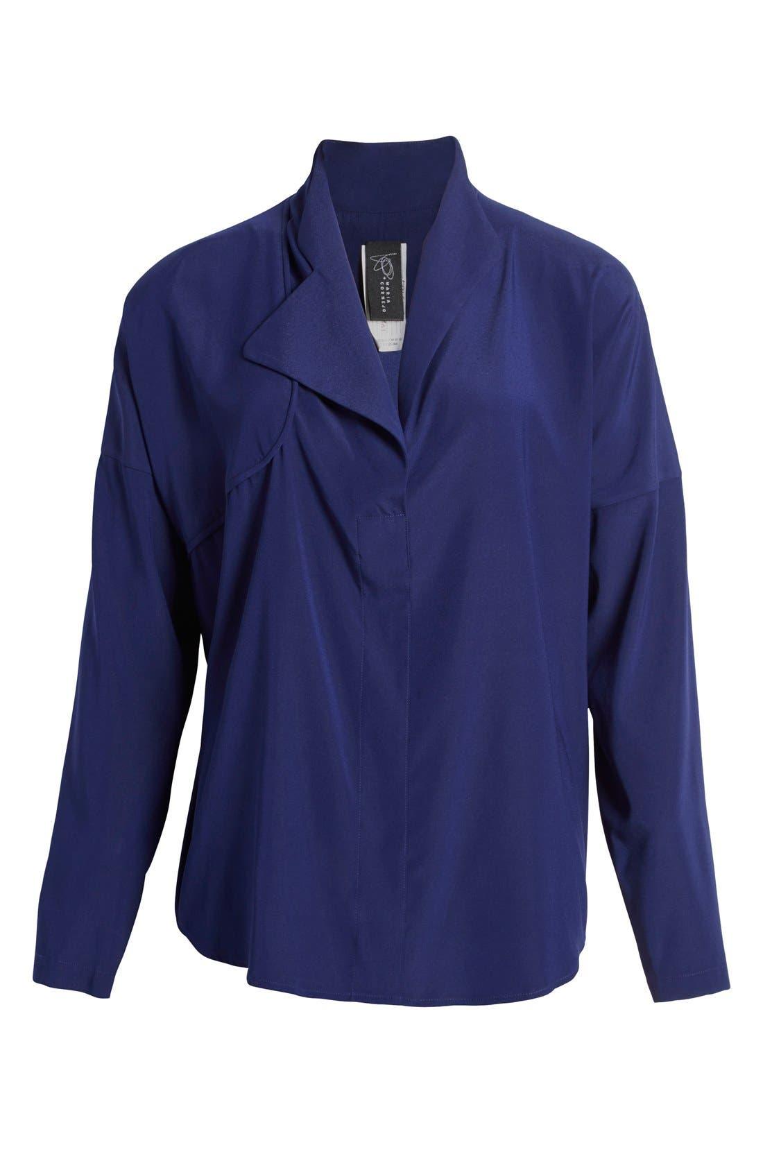 Alternate Image 4  - Zero + Maria Cornejo 'Edi' Stretch Silk Charmeuse Shirt