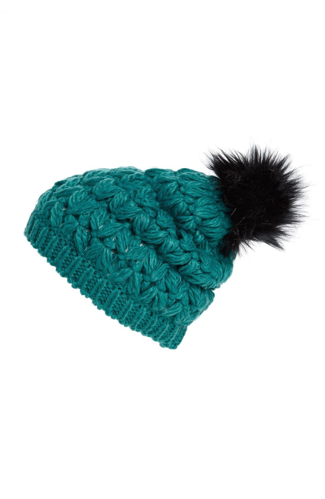 Main Image - Collection XIIX Crochet Pompom Beanie